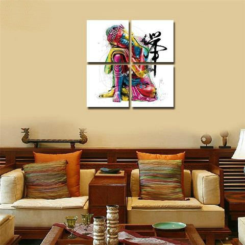 Perfect ... Buddha Canvas Wall PicturesFor Living Room   4Pcs ...