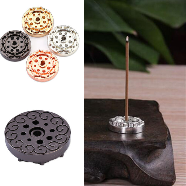 Elegant Mini Brass Incense Burner/Base with 9 Slot for Incense