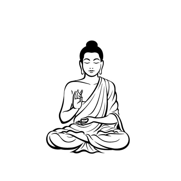 Meditating Buddha Wall Sticker in Various Colors and Sizes