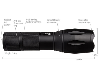 TacLight T1100 Tactical Flashlight
