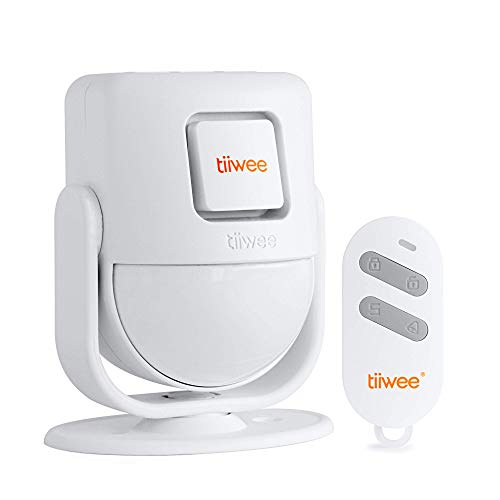 tiiwee X4 PIR Motion Sensor Alarm System with Remote Control - 125 dB Siren - Expandable - Home Security - Doorbell Sound and Alarm Siren Sound - Entry Garage Van Shed Alarm - 2 Year Warranty