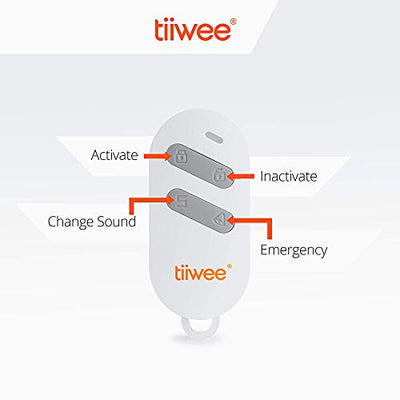 tiiwee X4 PIR Motion Sensor Alarm System with 2 Door Window Sensors and 2 Remote Controls - 125 dB Siren - Expandable - Doorbell Sound and Alarm Siren Sound - Garage Van Shed Alarm