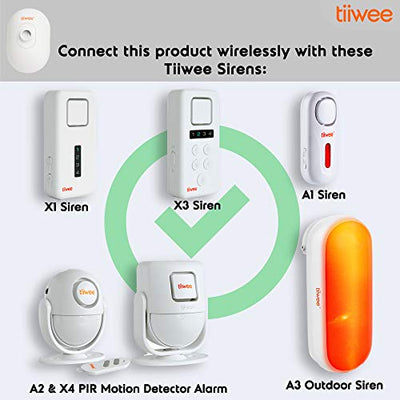 tiiwee Outdoor IP54 PIR Motion Sensor TWPIR03 for the Tiiwee Home Alarm System - Wireless Anti-Burglar Home Alarm System - Home Security - White