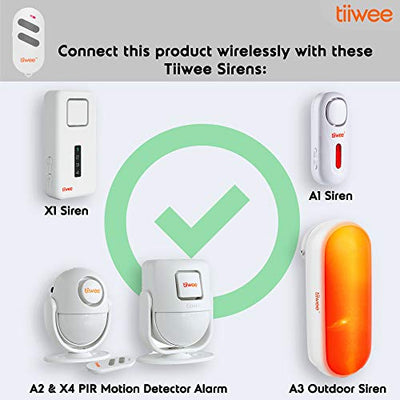 tiiwee Remote Control TWRC02 for the Tiiwee Home Alarm System - Wireless Anti-Burglar Home Alarm System - Home Security