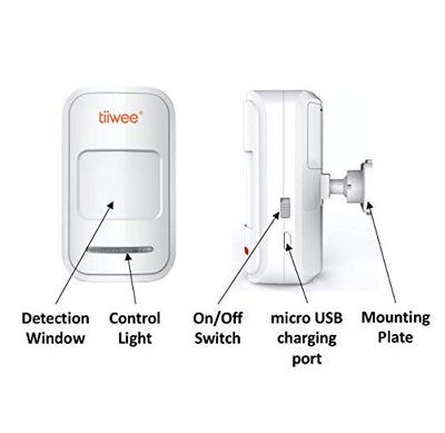 tiiwee PIR Motion Sensor TWPIR02 for the Tiiwee Home Alarm System - Wireless Anti-Burglar Home Alarm System - Home Security