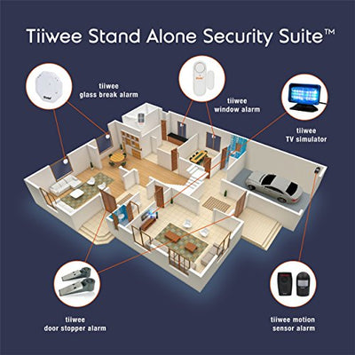 tiiwee Window Door Alarm Burglar Alarm Home Security - 120 dB - Batteries included – Pack of 2