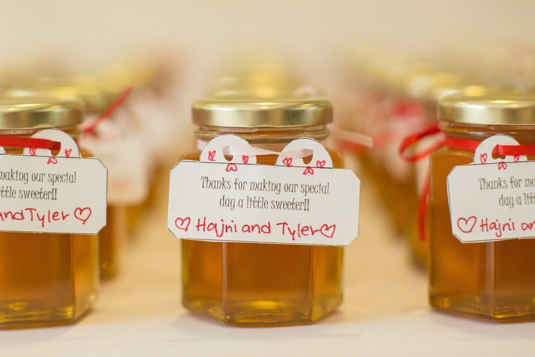 12 Honey Favours with no Tag (3.75 oz)