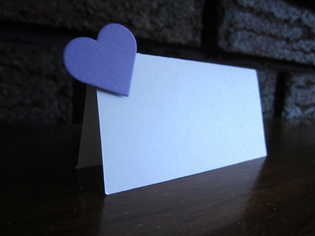 Place Cards with Hearts  (Set of 25)