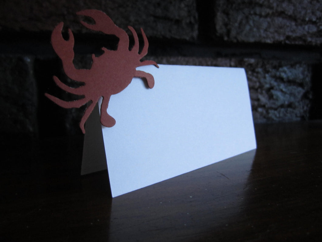 Nautical Themed Place Cards with Crabs (Set of 20)