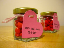 24 DIY Favour Jars with Heart Tags (1.5 oz)