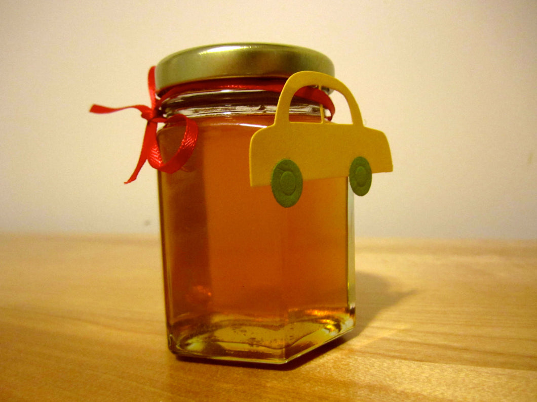 12 Honey Favours with with Car Tag (3.75 oz)