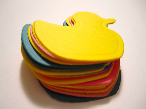 25 Paper Duck Die Cuts