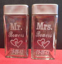 For the Perfect Pair - Personalized Salt and Pepper Shakers