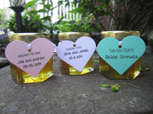 24 Honey Favours with Heart Tags (1.5 oz)