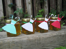 24 Honey Favous with Wedding Dress Tags (1.5 oz)