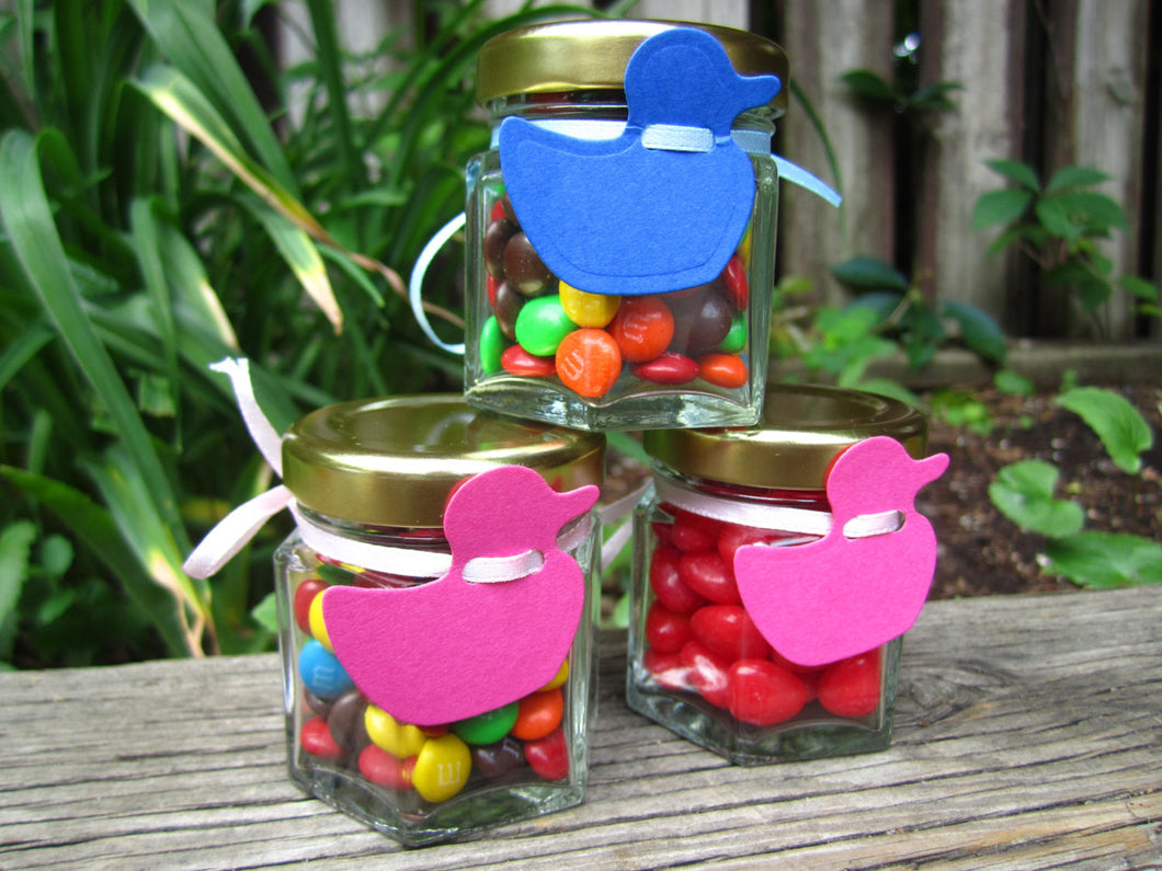 24 DIY Favour Jars with Duck Tag (1.5 oz)