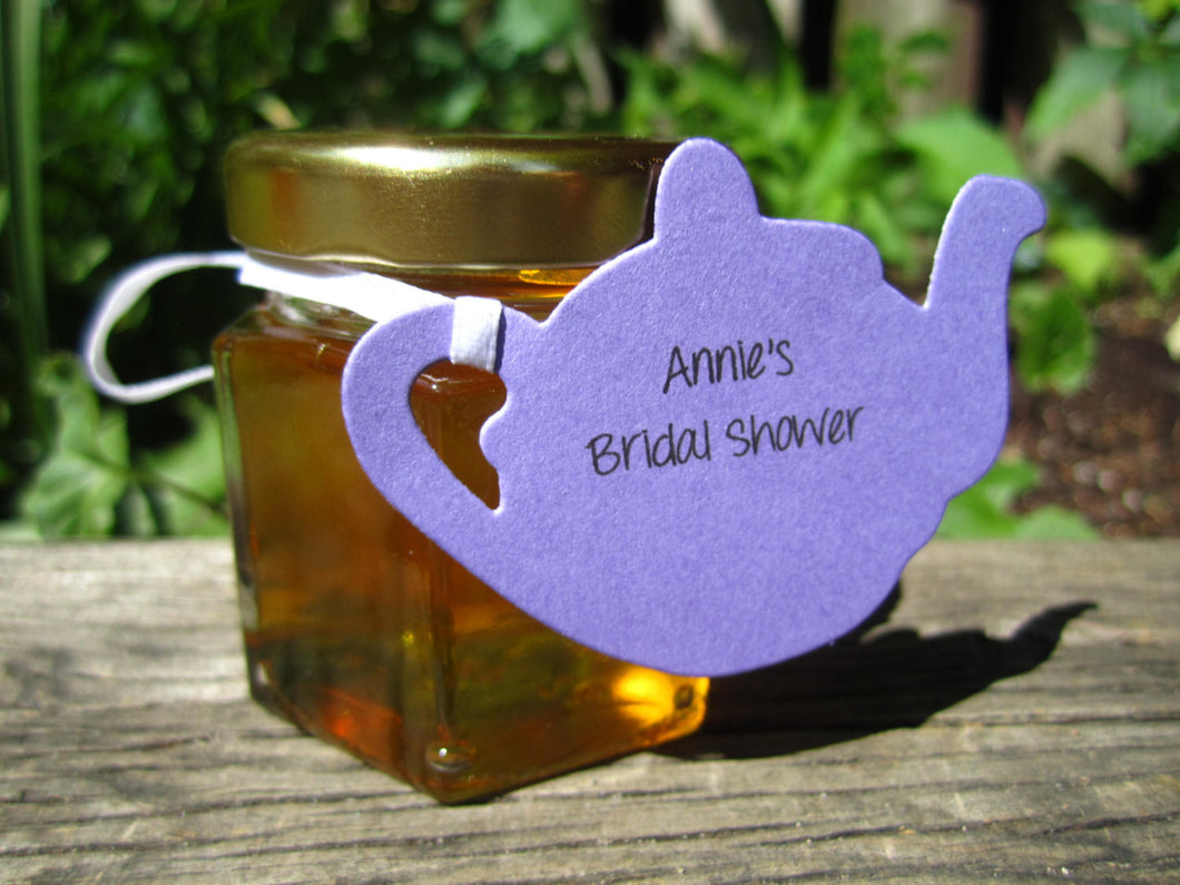 24 Honey Favours with Tea Pot Tags  (1.5 oz)