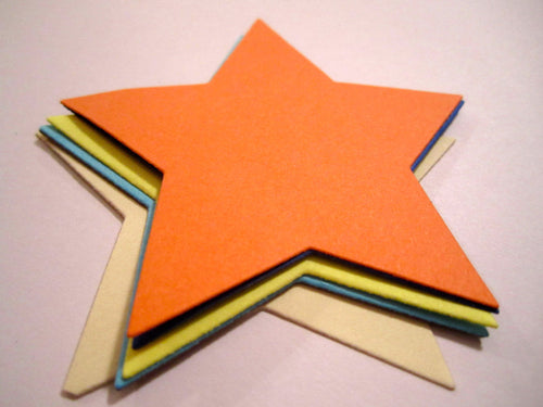 25 Paper Star Die Cuts