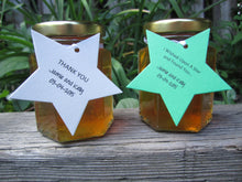 12 Honey Favours with Star Tags (3.75 oz)