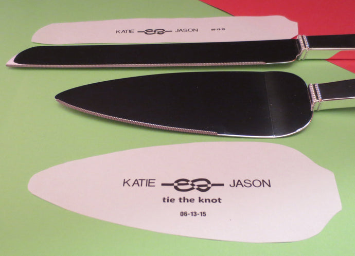 Tie the Knot Cake Personalized Serving Set by Vera Wang
