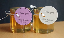 24 Honey Favours with Circle Tags (1.5 oz)
