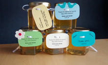 24 Honey Favours with Love Bird Tags (1.5 oz)