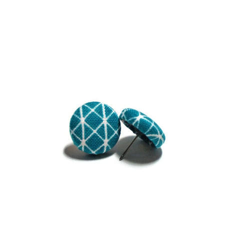 Teal Architectural Nickel-Free Earrings