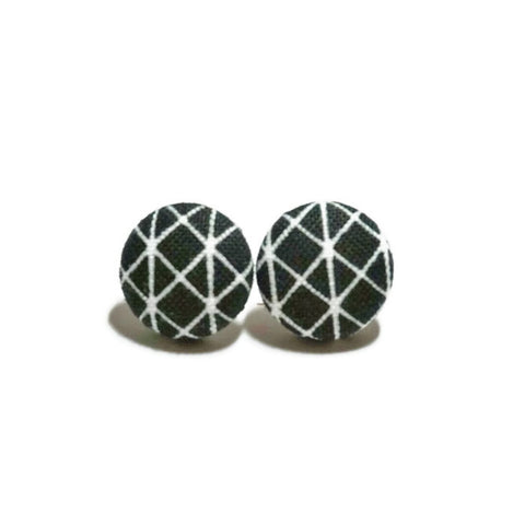 Black & White Titanium Earrings
