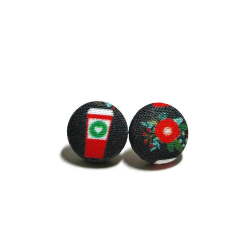 Red Cup Stud Earrings