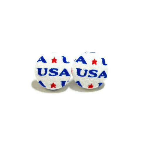 USA Text Nickel-Free Earrings