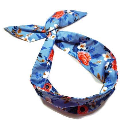 Les Fleurs Periwinkle Birch Wire Headband - Rifle Paper Co.