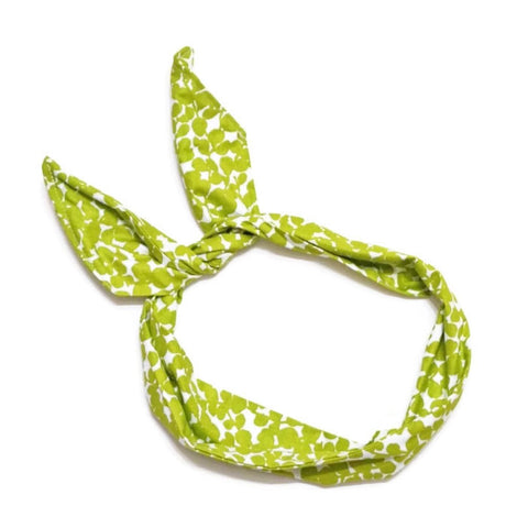 Green Leaf Abstract Wire Headband