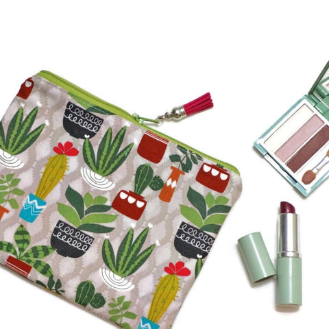 Succulents Zipper Pouch