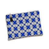 Blue Geometric Zipper Pouch