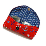 Red Anchor Sunglasses Case