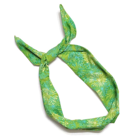 Green Starburst Wire Headband