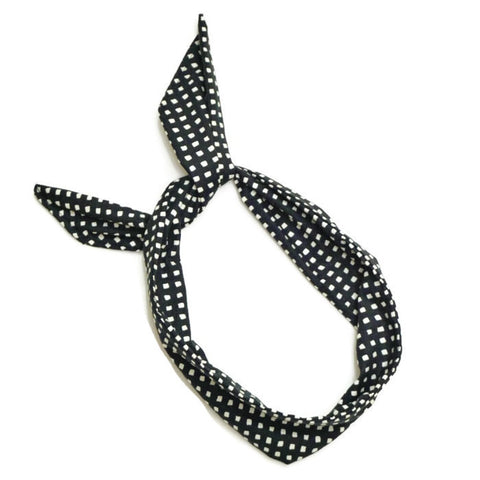 Black & White Squares Wire Headband