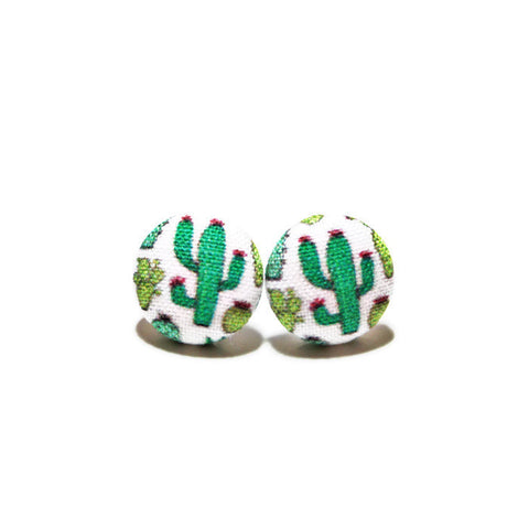 Cactus Titanium Earrings