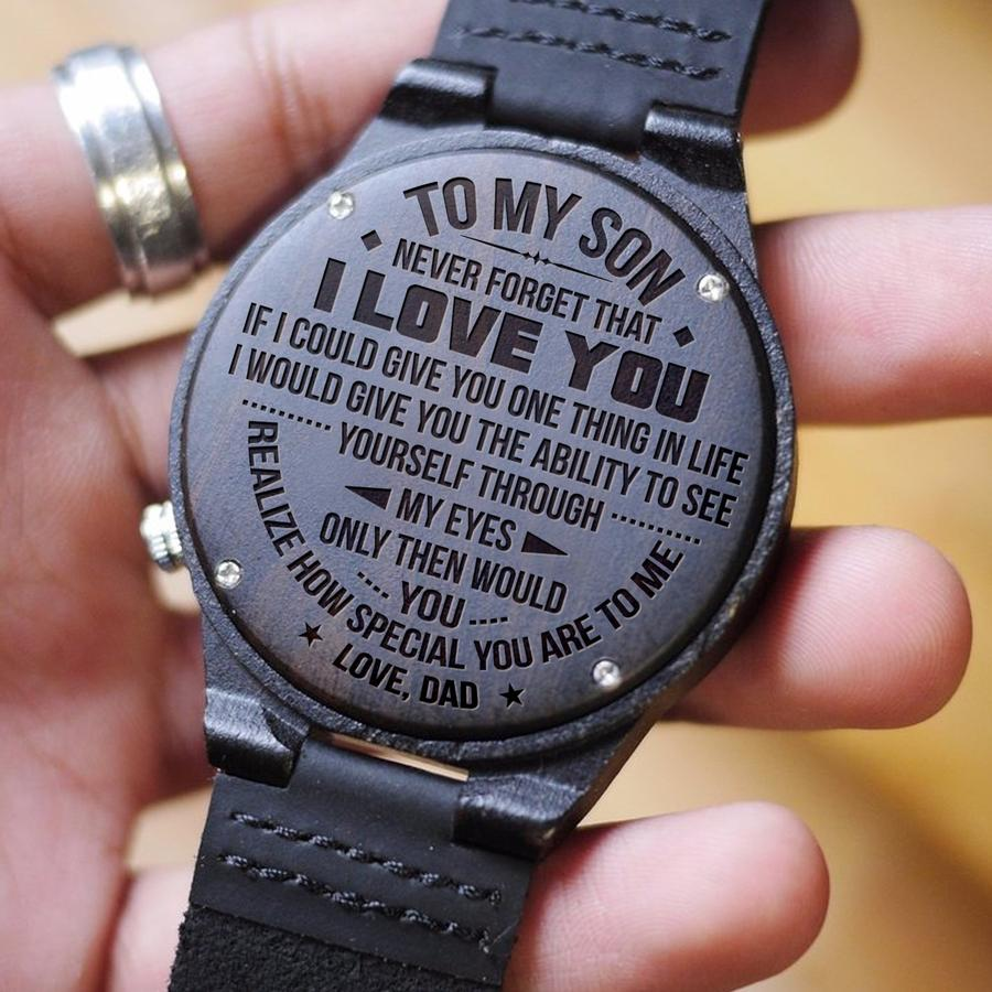 Wooden Watch Wood Watch Engraved Watch Mom To Son Greatest Wish Always Know Love You Walk Through Life Knowing Always There For You Anyway