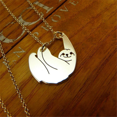 Adorable Sloth ⛓💎Pendant Necklace 😍💜 👇👇👇🎁 💋😘 FREE + SHIPPING 🚢!! 🇺🇸 ONLY 😍