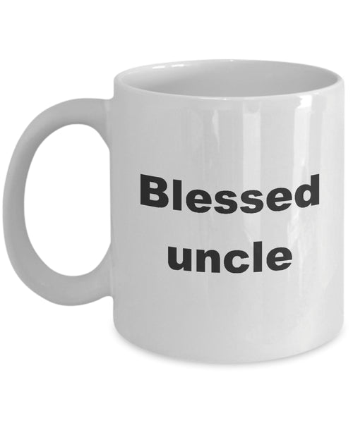 Coffee Mug - Blessed Uncle Mug White Cool AF Funcle Niece Nephew Fuel Hero Spoiling Coffee Cup Gift Idea