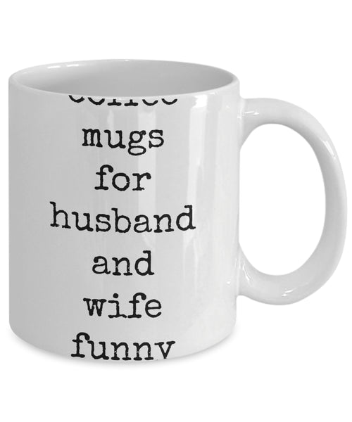 Coffee Mug - Coffee Mugs For Husband And Wife Funny Husband Spouse Lifepartner Love Bemine Funny Novelty Coffee Cup Gift Idea