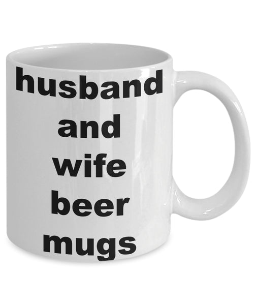 Coffee Mug - Husband And Wife Beer Mugshusband Spouse Lifepartner Love Bemine Funny Novelty Coffee Cup Gift Idea