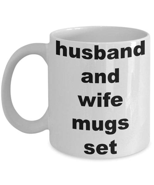 Coffee Mug - Husband And Wife Mugs Sethusband Spouse Lifepartner Love Bemine Funny Novelty Coffee Cup Gift Idea