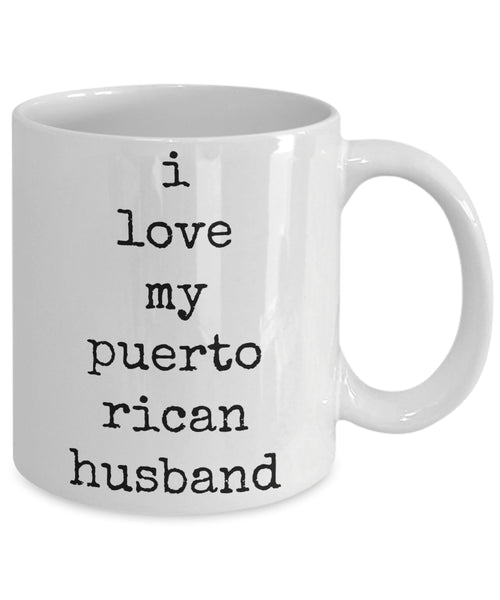 Coffee Mug - I Love My Puerto Rican Husband Good Morning My Handsome Husband Mug White Love Perfect Mister Wife Funny Novelty Tmh-11wht-145