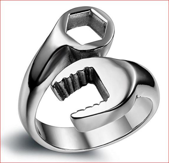 Cool Mechanic Wrench Tool Stainless Steel Ring - Cool Mechanic Wrench