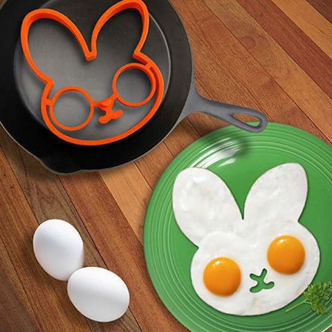Cute Bunny Head Silicone Fried Egg Molds - Cute Bunny