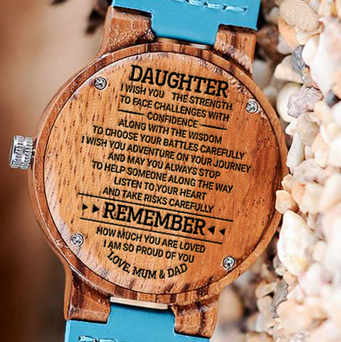 Wooden Watch Wood Watch Engraved Watch