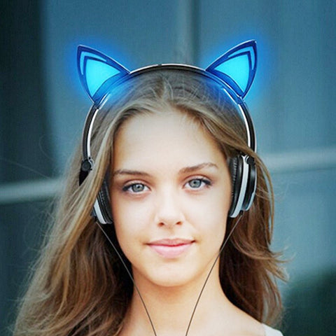 Glowing Ears Cat Ear Headphones - Glowing
