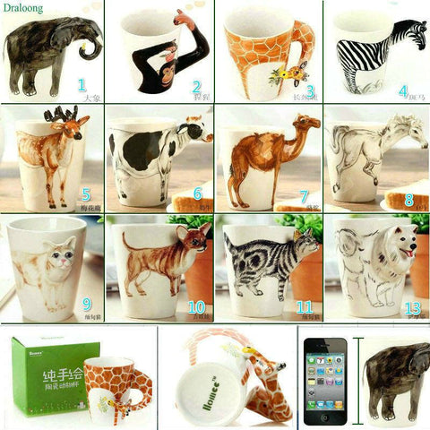 Hand Painted 3D Animal Cups - Hand